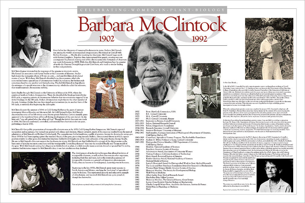 Barbara McClintock Tribute Poster