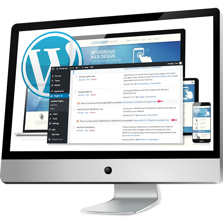 Photo: Maintaining your WordPress site.